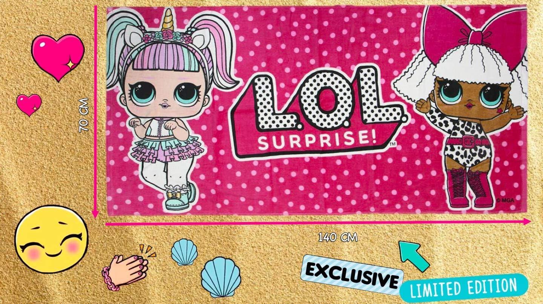Queen Bee Premium Quality Cherry Unique Design L O L Surprise! M.C DJ Fast Absorbing Polyester Towel Court Champ | Glam Glitter Beach Towel! Girls Bath//Beach Towel Swag
