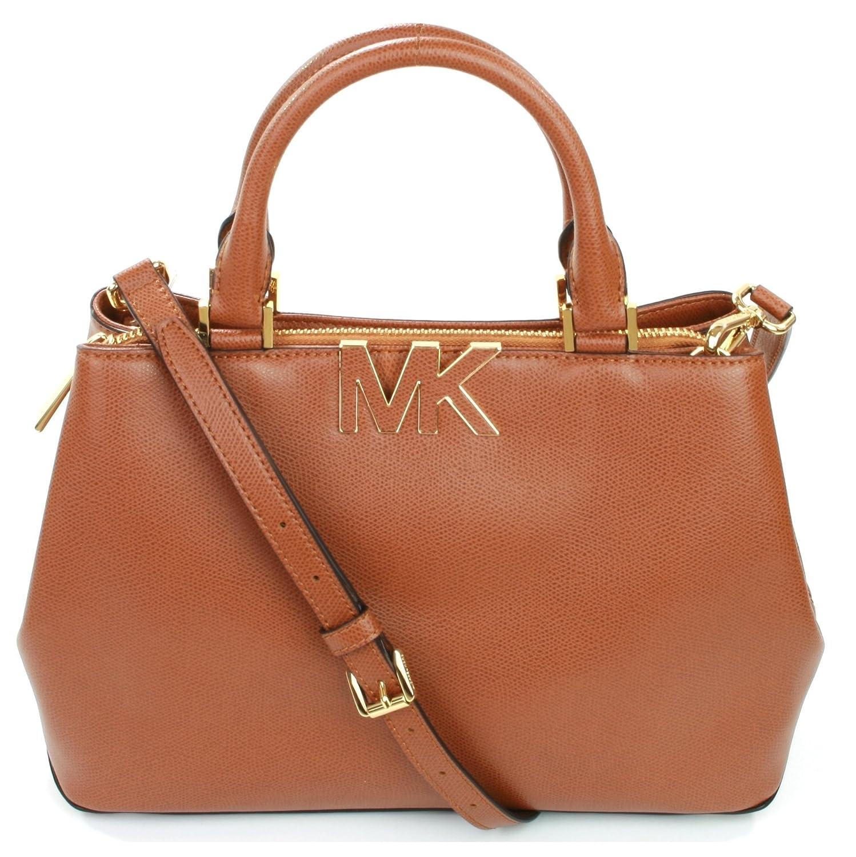 f22cbffbb6bb4 Michael Kors Florence Medium Leather Satchel Bag in Luggage  Amazon.de   Koffer