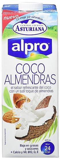 Alpro Central Lechera Asturiana Bebida de Coco Almendra - Paquete de 8 x 1000 ml -