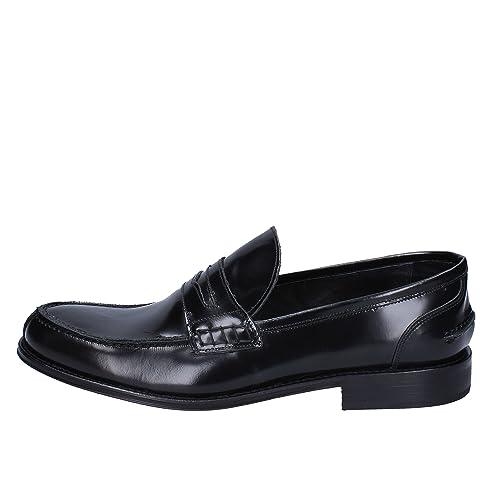 Zapatos Hombre BRUNO VERRI Mocasines Negro Cuero AH462 (42 EU)