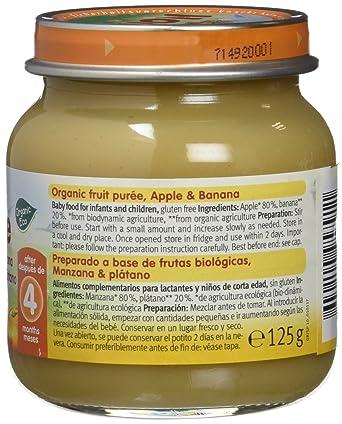 Holle Potito de Manzana y Plátano (+4 meses) - Paquete de 6 x 125 gr - Total: 750 gr: Amazon.es: Alimentación y bebidas
