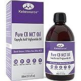 Olio C8 MCT Premium | 3X C8 in più Rispetto Agli Oli MCT | Trigliceridi Acidi Caprilici Puri | Paleo, Glutine e Vegano friendly | Bottiglia BPA free | Ketosource
