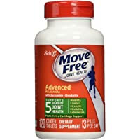 Move Free Glucosamine Chondroitin MSM and Hyaluronic Supplement, 120 tablets