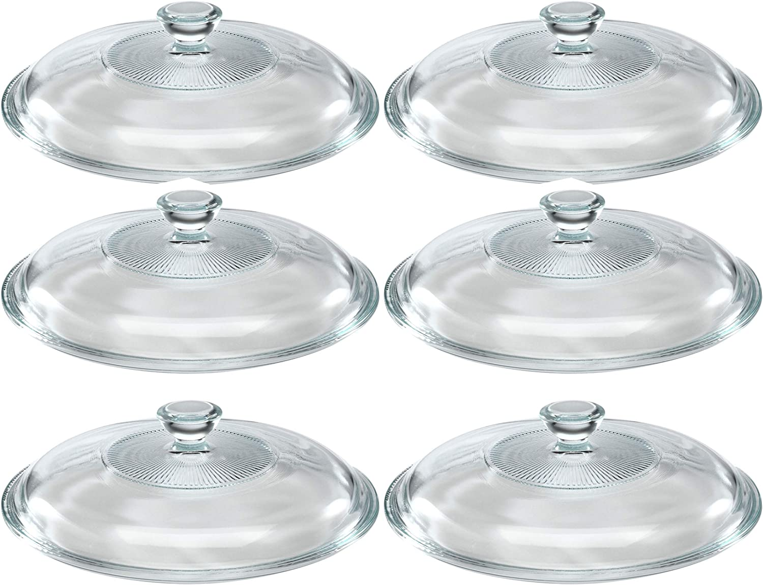 """PYREX Round Glass 6.25/"""" Replacement Lid Side Handles for Casserole Dish"""