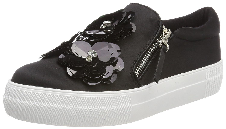 Buffalo Damen 515-7492-2 Satin Slip On Sneaker Schwarz (schwarz 01)