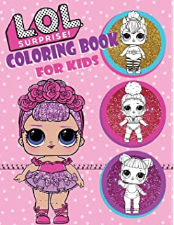 Amazon Com Mega Collection L O L Surprise Coloring Book For Kids
