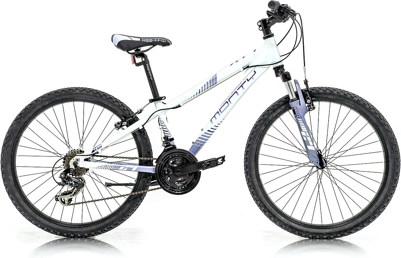 Monty KY7 Bicicleta, Unisex niños, Blanco/Lila, Talla Única: Amazon.es: Deportes y aire libre