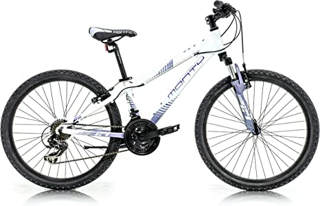Monty KY7 Bicicleta, Unisex niños, Blanco/Lila, Talla Única: Amazon ...