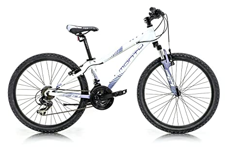 Monty KY7 Bicicleta, Unisex niños, Blanco/Lila, Talla Única ...