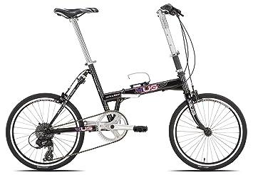 Carratt Key Flat TX800, Bicicleta Plegable Hombre, Negro, 20