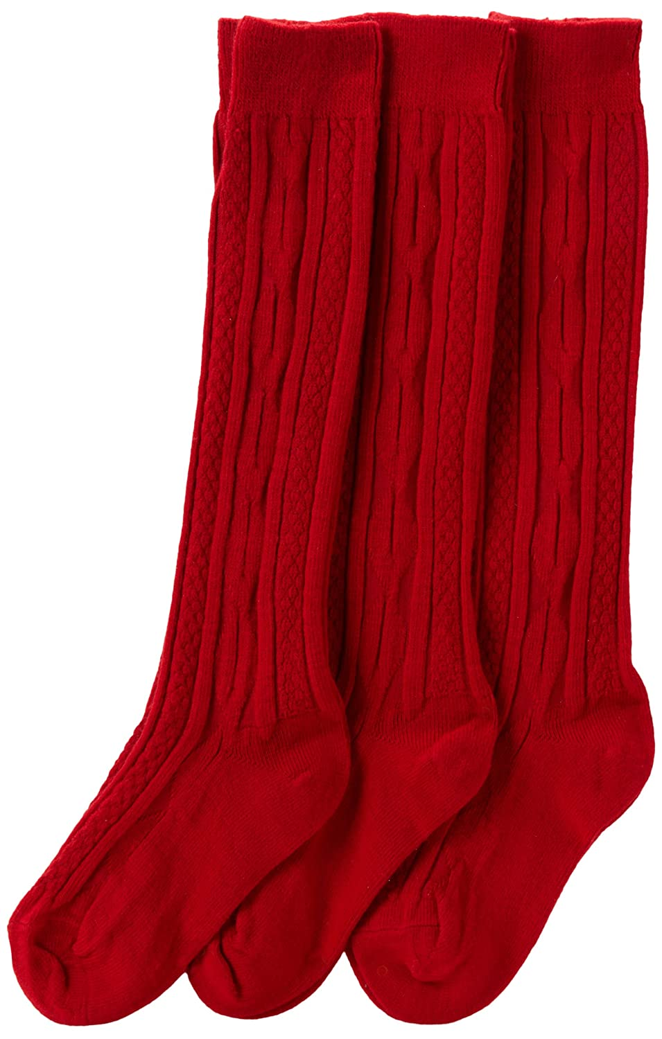 Amazon.com: Jefferies Socks Big Girls' Cable-Knit Knee-High Sock ...