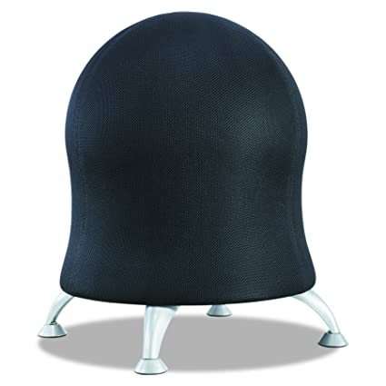 Beau Safco Products 4750BL Zenergy Ball Chair, Black