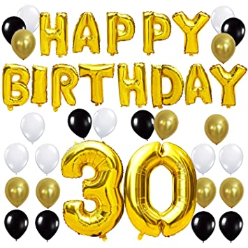 KUNGYO 30TH Birthday Party Decorations Kit