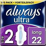 Always Ultra Long Binden (mit Flügeln) Größe:2, 6er Pack (6 x 22 Stück)