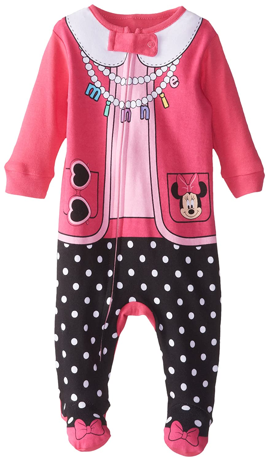 Disney Baby-Girls Baby Minnie Mouse One Piece Blanket Sleeper Pink 6-9 Months K173662MB