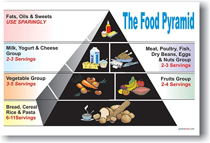 The Best Food Pyramid Poster Vintage