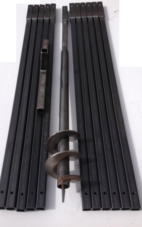 Brunnenbohrer 100mm Brunnenbohrgerät Handbohrer Erdlochbohrer (Ø100mm / 12,0m)