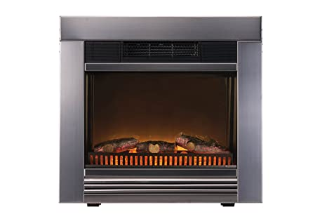 Electric Fireplace Heater Chicago Integriert 1800 W Metall Amazon