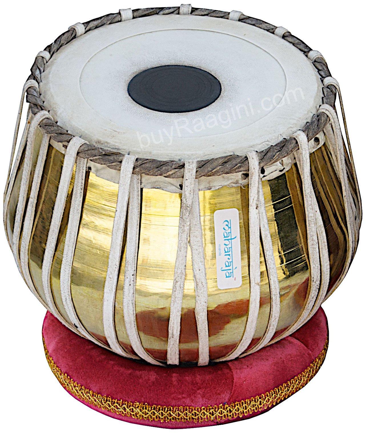 Tabla Set by Maharaja Musicals, Golden Brass Bayan 3Kg, Sheesham Dayan Tabla, Nylon Bag, Hammer, Book, Cushions, Cover, Tabla Indian Drums (PDI-CH) by Maharaja Musicals (Image #3)