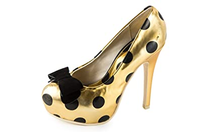 Lola Ramona Damen Marilyn Pumps Gold