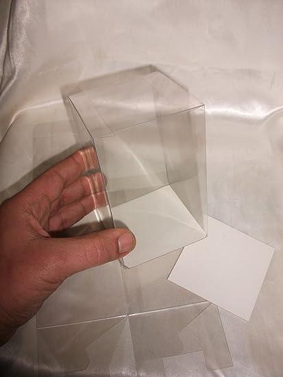 50 Pz Scatola Pvc Trasparente 8x8x8 Cm Portaconfetti Per Bomboniera