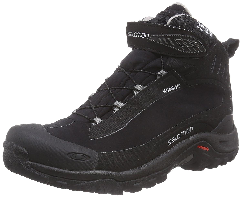 [サロモン] ウィンターシューズ DEEMAX 3 TS WP 防水防寒靴 WINTER L37687800 B00PRR6J9W 26.5 cm|Black/Black/Aluminium Black/Black/Aluminium 26.5 cm