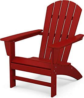 product image for POLYWOOD AD410CR Nautical Adirondack Chair, Crimson Red