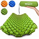 POWERLIX Sleeping Pad - Ultralight Inflatable Sleeping Mat, Ultimate for Camping, Backpacking, Hiking - Airpad, Inflating Bag, Carry Bag, Repair Kit - Compact & Lightweight Air Mattress