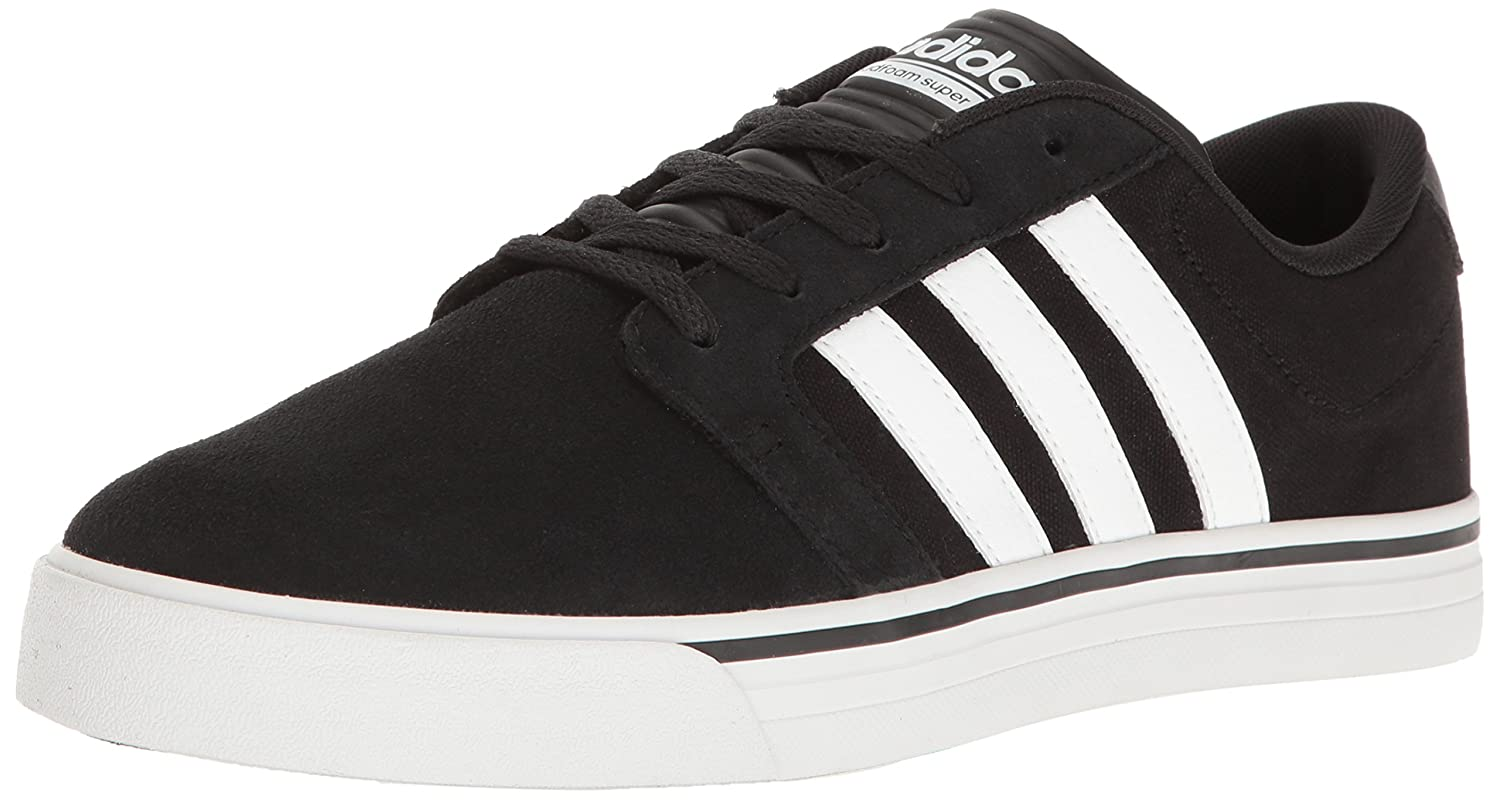 promo code 1eaf3 914b3 Amazon.com   adidas Men s Cloudfoam Super Skate Sneakers, Black White Lime,  ((8 M US)   Fashion Sneakers