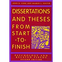 Dissertations and Theses From Start to Finish: Psychology and Related Fields 2ed