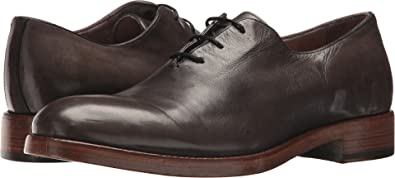 FRYE Men's Chase Oxford Grey Tumbled Waxed Calf 8.5 ...