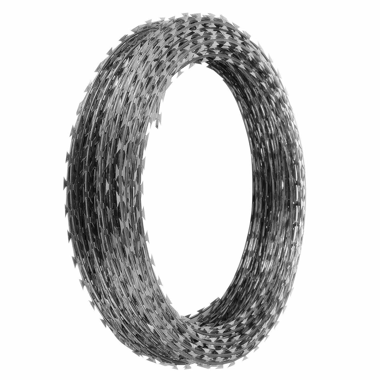Amazon.com : Popsport Razor Barbed Wire 18 Inch Ribbon Barbed Wire 5 ...