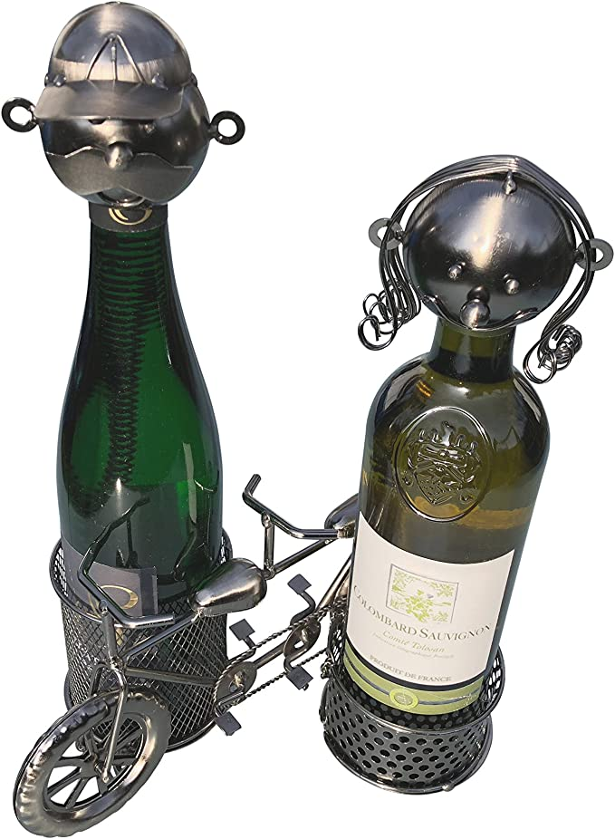 eXODA Portabotellas de Vino Bicicleta en tándem Figuras de Metal ...