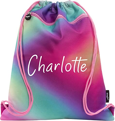 <span>Girls Personalized PE Bag</span> for Swimming Football Gym School [Fringoo] Picture