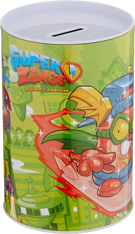 Teamsterz-Hucha CILÍNDRICA SUPERZINGS, Color (Verde) HM-05-SZ: Amazon.es: Juguetes y juegos