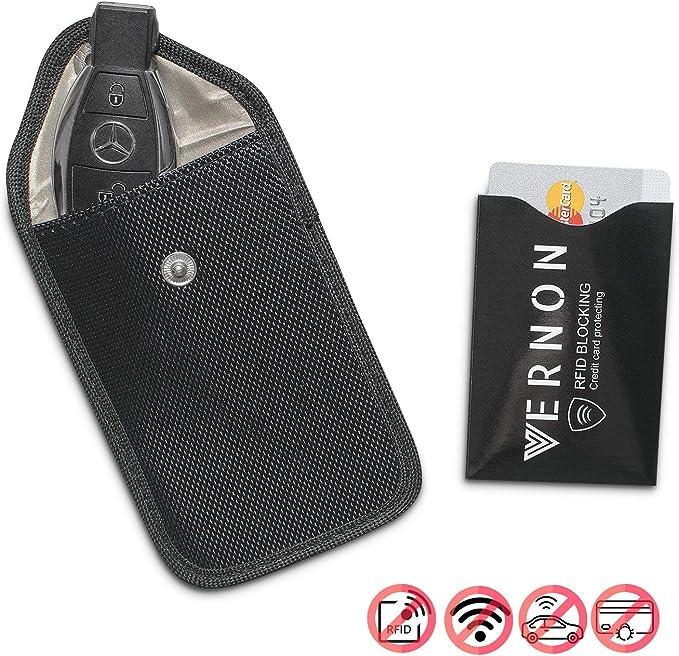 antifurto schermatura Chiave Radio Custodia antiradiazione Custodia per Carte Gratis Premium RFID Blocker Portachiavi Keyless Go Protezione per Chiave Auto di VERNONTM