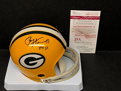 huge selection of bdff5 702e5 Amazon.com: Paul Hornung Signed Green Bay Packers Football ...