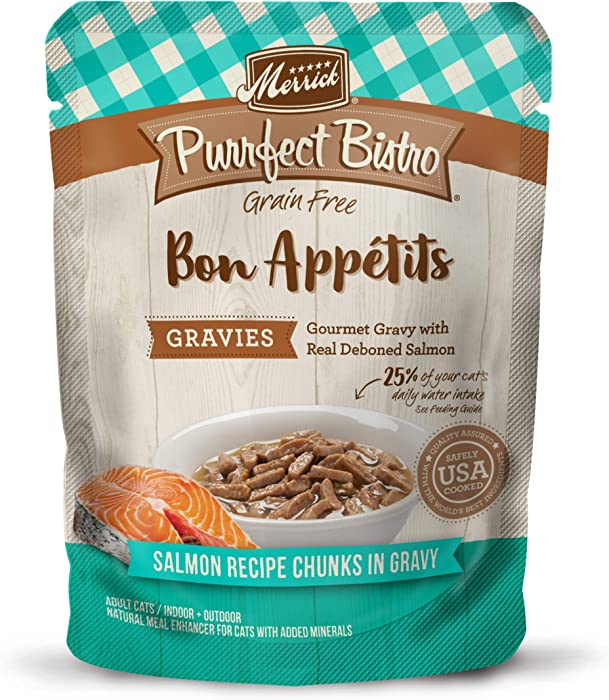 Merrick Purrfect Bistro Bon Appetits Grain Free Adult Wet Cat Food, 3 oz. Pouches (Case of 24)