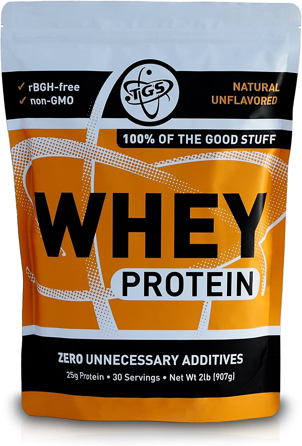 Amazon.com: TGS All Natural 100% Whey Protein Powder - Unflavored ...