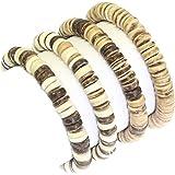 Bellissimo bosco coco braccialetto di perline di surfer stile o choker set di collana