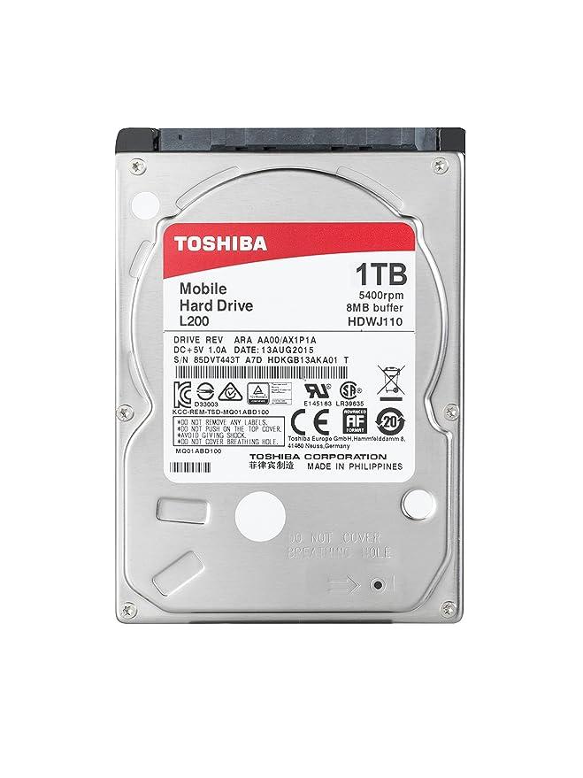 Toshiba L200 1TB 5400RPM 25 SATA HDWJ110UZSVA