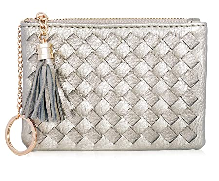 3dc10c1c5e01 TOTO Coin Purse for Women Card Cash with Key Ring & Leather Tassels ...