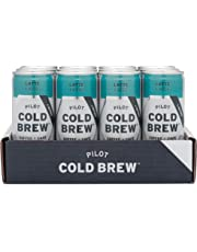 Pilot Coffee Roasters Pilot Cold Brew Latte, Nitro Infused Cold Brew Coffee with Organic Lactose-Free Milk, 245 Ml Cans, 12 Count