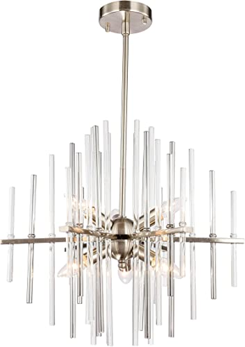 Woodbridge Lighting 20116STN Chandelier, Nickel