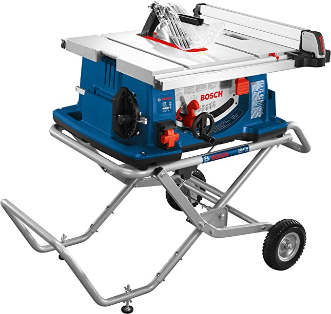 Bosch Power Tools 4100-10 Tablesaw - 10 Inch Jobsite Table Saw with Portable Folding Table Stand
