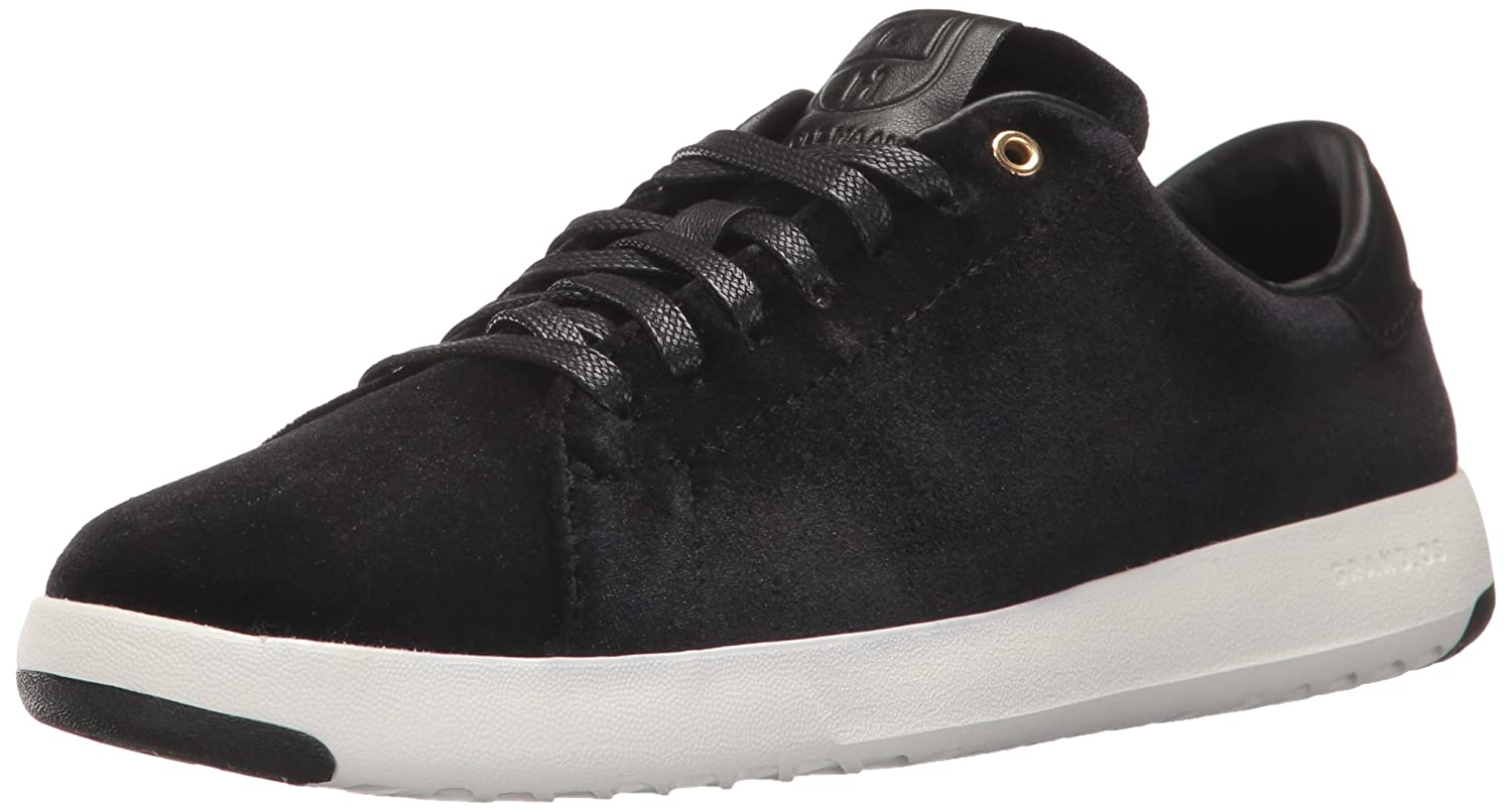 Cole Haan Women's Grandpro Tennis Leather Lace OX Fashion Sneaker B01NCZ8102 6 B(M) US|Black