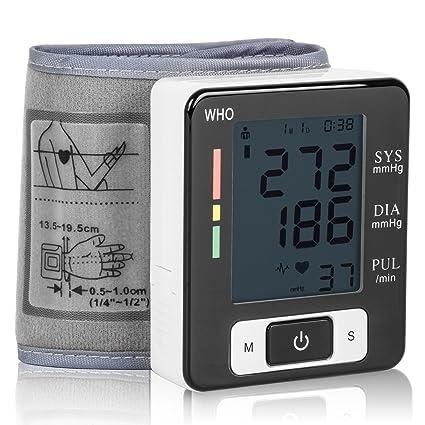 c26a3d61fb95b Tensiómetro de Muñeca Eléctrico Digital Portátil Monitor de Presión  Arterial con Gran Pantalla Digital Medidor de