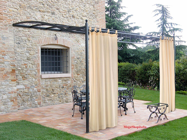 Megashopitalia Tenda per Gazebo Pergola Veranda Confezionata con Asole in Cotone MEGA SHOP ITALIA