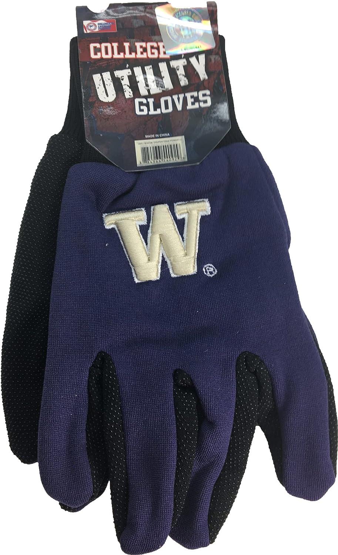 NCAA Washington Huskies 3dロゴマルチ目的ゴムグリップ手袋  B01IF8CWK4
