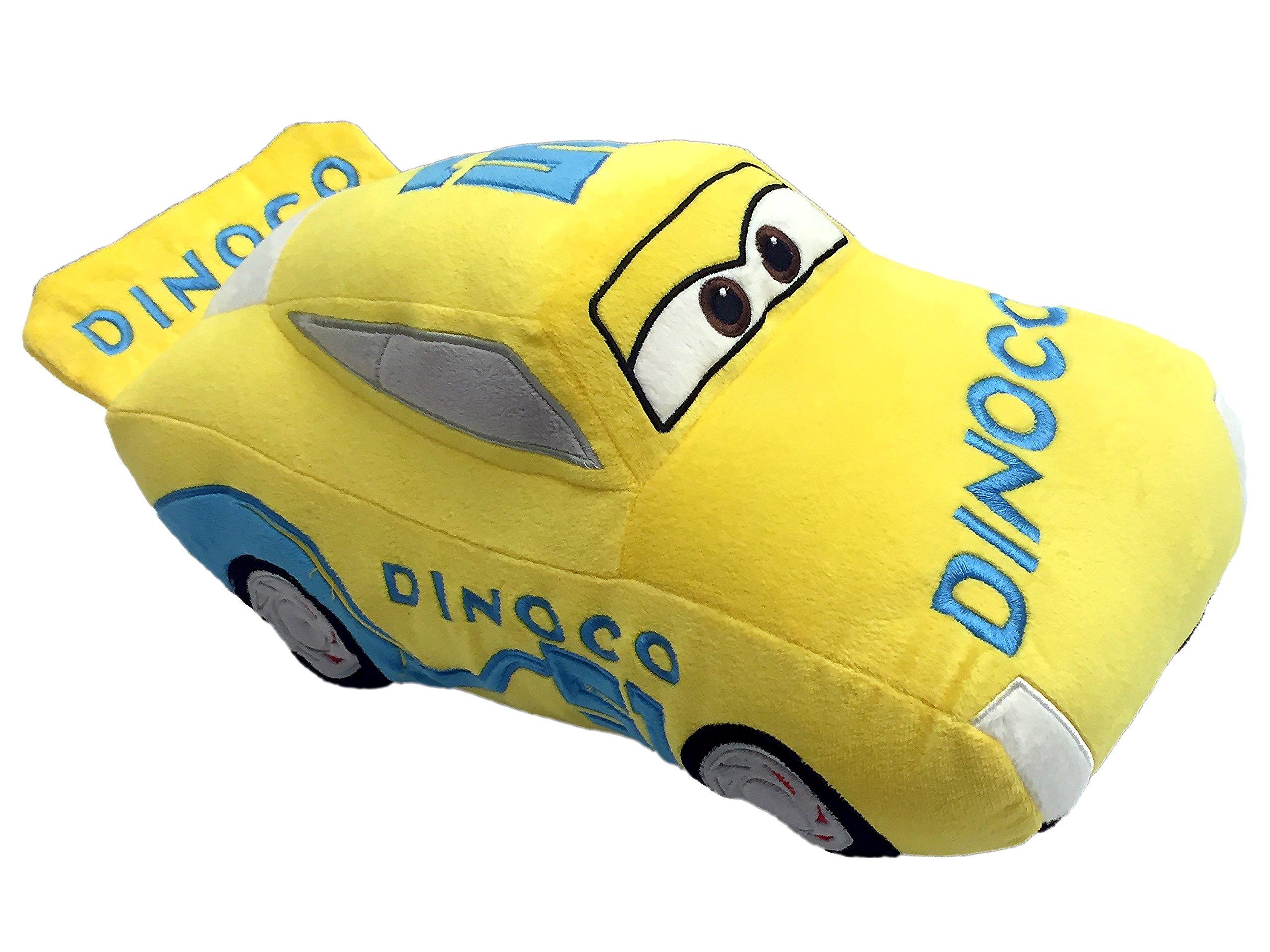 Disney Pixar Cars 3 Movie Cruz Ramirez Yellow Racecar Plush 16'' Pillowbuddy (Official Pixar Prodcut)